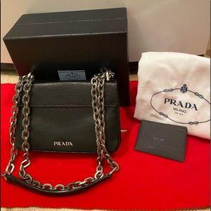 100% Authentic Almost new Prada purse in black